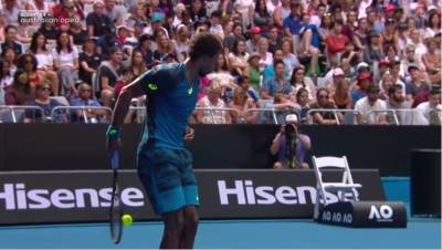 Gael Monfils Incredible Behind The Back Shot