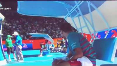 What caused the fight between Tsonga and Wawrinka