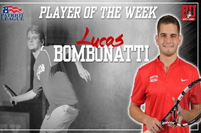 Lucas Bombonatti and Josie Rogers are the Patriot League Corvias Players of the Week