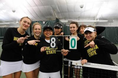 Div I / W: Wichita State claims 80th consecutive Missouri Valley Conference dual match win!