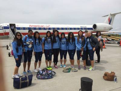 Columbia's Lady Tennis have a clash of rackets with Texas and Oregon