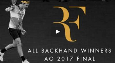 Roger Federer All Backhand Winners Australian Open 2017 Final