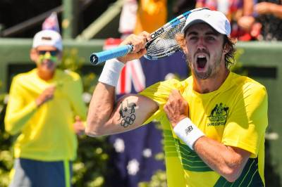 Jordan Thompson describes his Davis Cup debut win as 'the best feeling in the world'