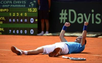 DAVIS CUP - Italy beats Argentina 3-2 and reach the quarter-finals