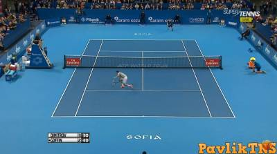 Amazing stop volley by Dimitrov