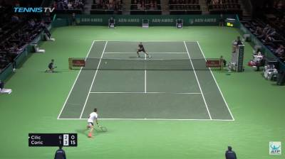 Shot of the week by Borna Coric: what a passing shot!