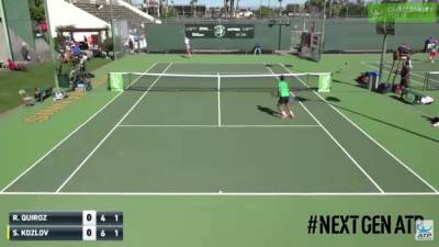 Kozlov Fires an EPIC Smash Passing shot At Tempe Challenger