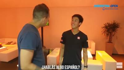 Kei Nishikori meets Emiliano Massa, with whom he won 2006 Roland Garros juniores