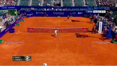 Carreno Busta wins an unbelievable point against Ramos