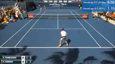 A crazy Adrian Mannarino gets defaulted from his match against Edmund