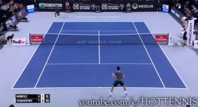 Welcome back Monfils: what a passing shot against Stakhovsky!