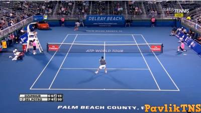 Del Potro hits an amazing forehand passing shot