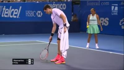 Taylor Fritz Struggles To Get Moth Off Court; Ball Girl Finds The Solution