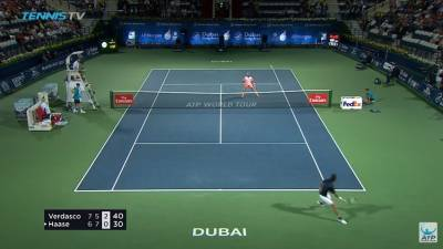 Haase hits two perfect lobs against Verdasco