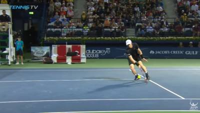 Incredible Andy Murray backspin half-volley