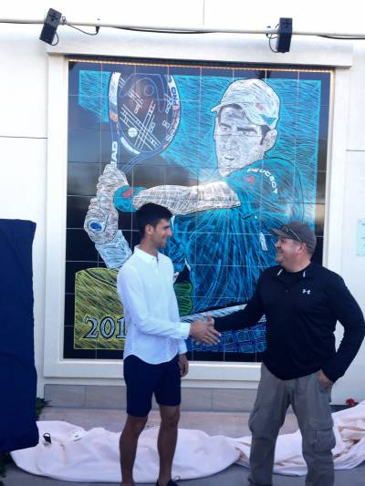 Indian Wells - Novak Djokovic mural unveiling