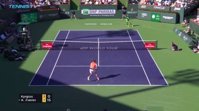 Nick Kyrgios fires off a great backhand hot shot
