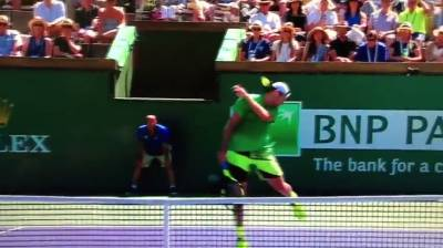 Federer hits Sock in his face!