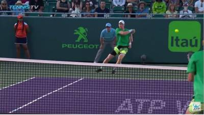 Edmund Fires Ferocious Forehand Hot Shot At Miami