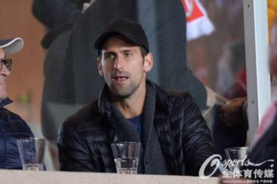 Novak Djokovic and Richard Gasquet attend Champions League matches