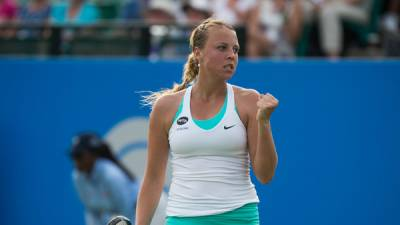 Rising force Kontaveit wins first title in Den Bosch