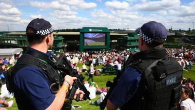 Nine people have been arrested at Wimbledon
