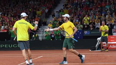 DAVIS CUP: Australia takes 2-1 lead over Belgium