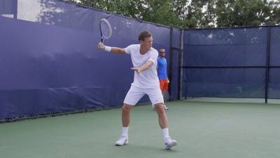 Tomas Berdych: ball attack, impact & final (position)
