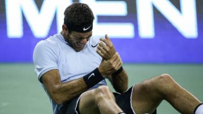 Wrist contusion for del Potro: 'I hope to play against Roger Federer'