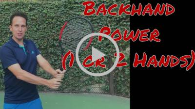 Tennis Backhand Technique: One Move For Effortless Power