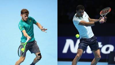 ATP FINALS- Goffin to meet Dimitrov for an unprecedented season decider