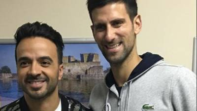 Novak Djokovic Meets Despacito Hit Maker Luis Fonsi