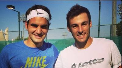 Stefano Travaglia recalls his first training session with Roger Federer