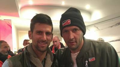 Novak Djokovic attends football match in Monte Carlo