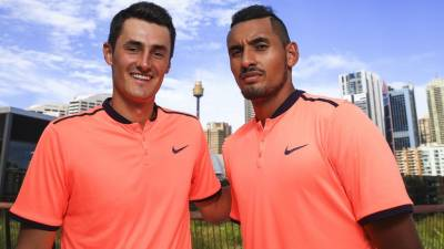 Kyrgios proves cool credentials to Will Smith in Tsonga win