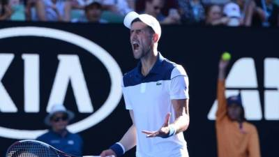 Novak Djokovic overcomes Gael Monfils in four sets