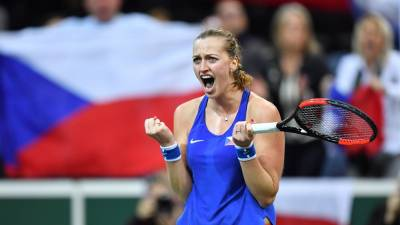 Kvitova beats Golubic, Czechs lead Swiss 1-Zero in Fed Cup