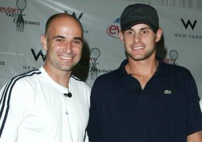 Andre Agassi and Pete Sampras pay tribute to Andy Roddick on his retirement