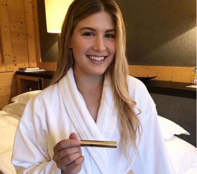 Eugenie Bouchard: 'Guess who I am spending the night with?'