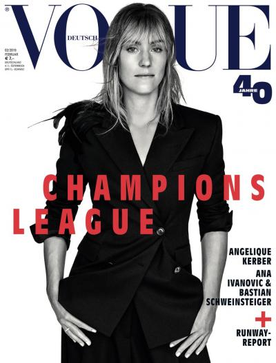 Angelique Kerber and Ana Ivanovic on the Cover of VOGUE Deutschland