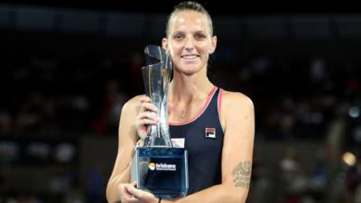 WTA Brisbane: Karolina Pliskova bounces back for a second title