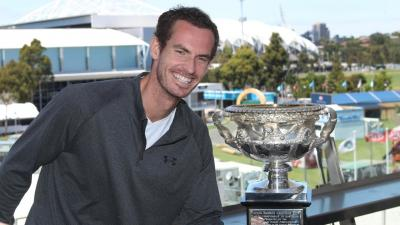 Andy Murray Takes a Dig at Himself by Posing with Australian Open Trophy
