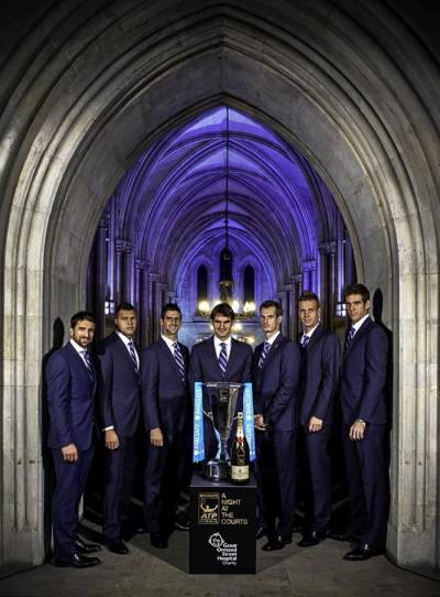 ATP London - Djokovic, Murray in Group A; Federer Potro in Group B