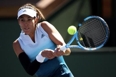 Garbine Muguruza keeping positive after crashing out of Indian Wells