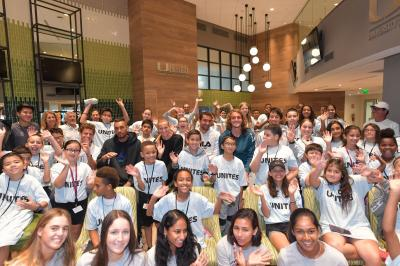 Tennis stars give back while in Miami before the start of the tournament