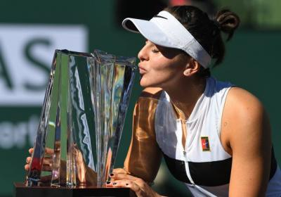 Bianca Andreescu celebrated her Indian Wells victory like any teenager