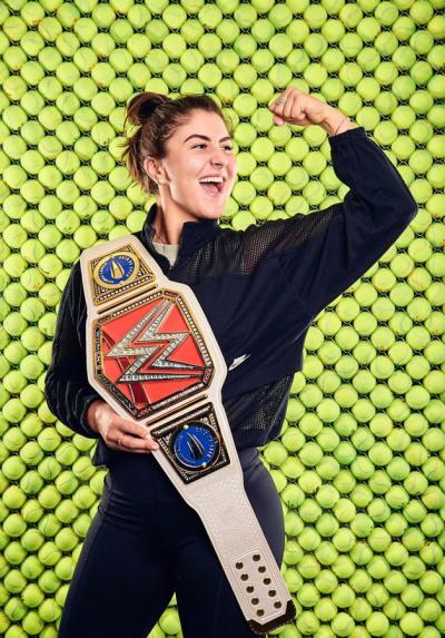 Bianca Andreescu Receives Customised WWE Belt
