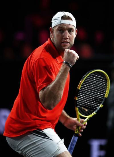 The comeback singles game of Jack Sock makes brilliant play at Laver Cup