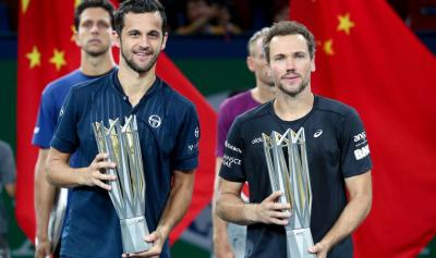 Bruno Soares and Mate Pavic react to winning Shanghai Masters
