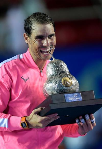 Is Rafael Nadal the all-time one to defeat since his victory at the Mexican Open?